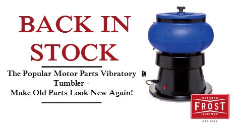 Vibratory Tumbler – Motor Parts Rust Remover / Polisher 18lbs (8kg). Make old parts like new.