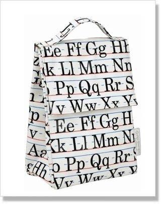 Alphabet insulate lunch sack