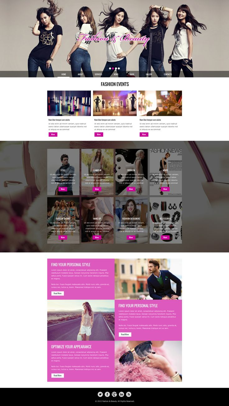 Sell365's Fashion & Beauty Template. One of the best Website Builder in India. Design and customize your own website with our free website templates.