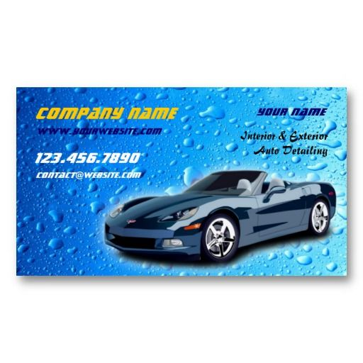 Auto Detailing Business Card Auto Detailing Business Cards
