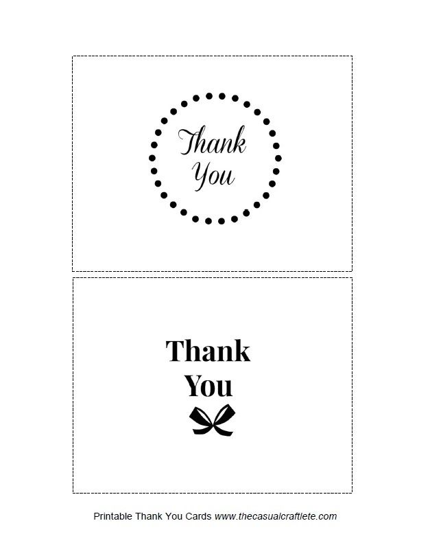 free printable thank you cards printables pinterest thank you
