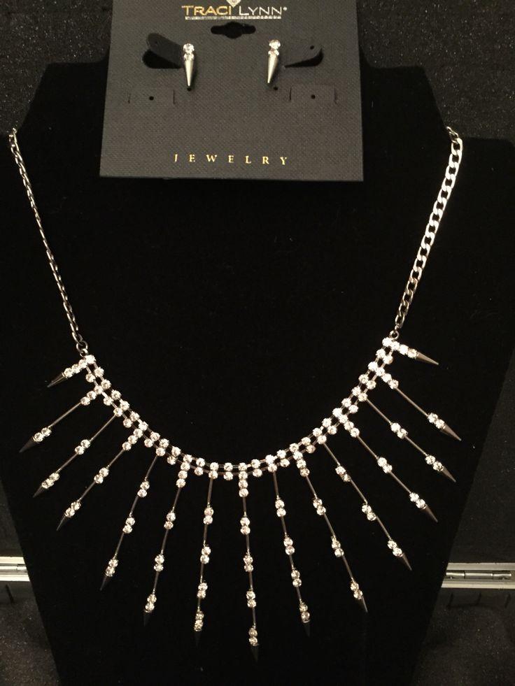 Strike A Pose necklace & earring set  www.tracilynnjewelry.net/ReneeMaxim