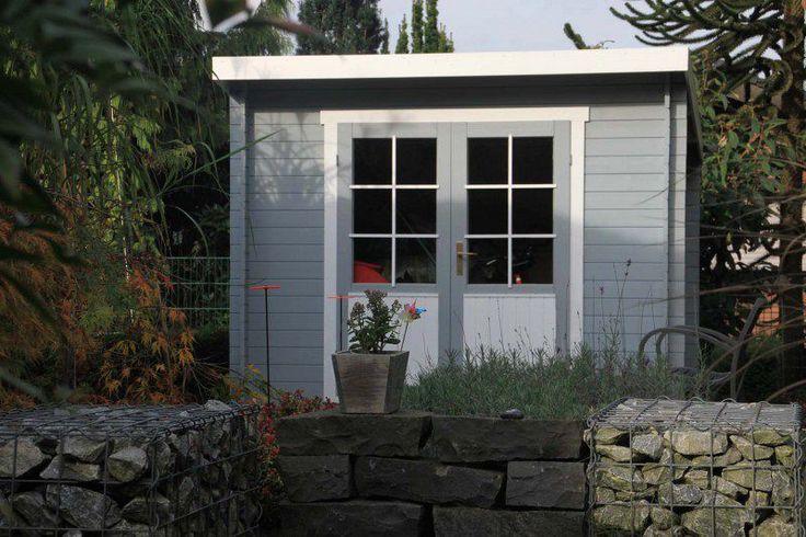 Werkzeug und Fahrräder stilvoll unterbringen: Unsere Kunden wissen wie das geht, nämlich im Pultdach-Gartenhaus Maria-40 ISO.