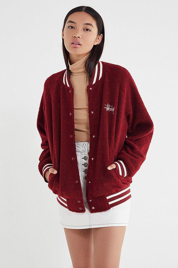 Stussy Micah Varsity Jacket Urban Outfitters Varsity Jacket Varsity Jacket Outfit Jackets
