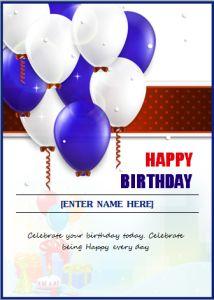 Birthday invitation card at word-documents.com