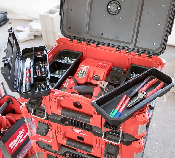 Milwaukee Packout Small Tool Box Loaded with Tools and Supplies