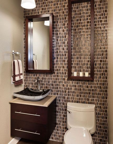 Click Pic for 30 Small Bathroom Decorating Ideas - Decorative Tiling - Small Bathroom Remodel Ideas