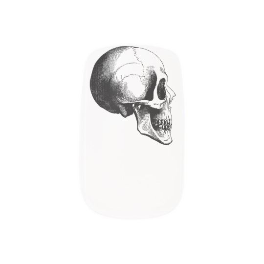 #zazzle #girl #woman #gift #giftidea #Nail #Art #Minx® #Skull