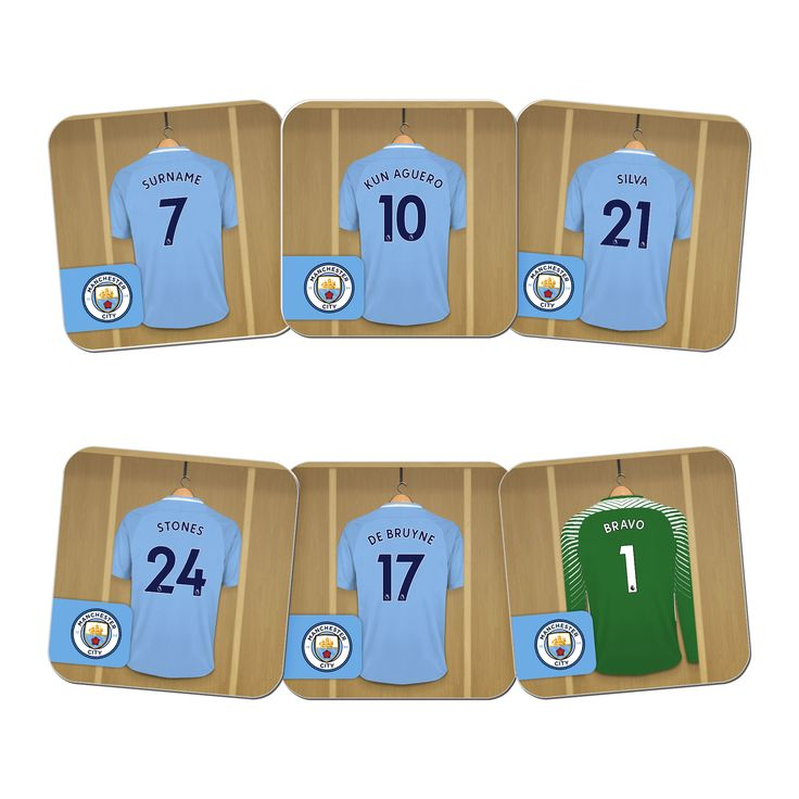 Manchester City FC Dressing Room Coasters