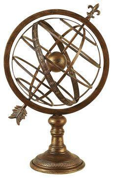 Armillary Nautical Globe beach-style-world-globes