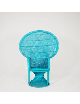 turquoise peacock high back chair for any miami theme event