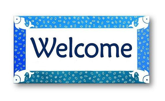 Outdoor Welcome Sign Beach House sign Welcome by AyeBarDesigns
