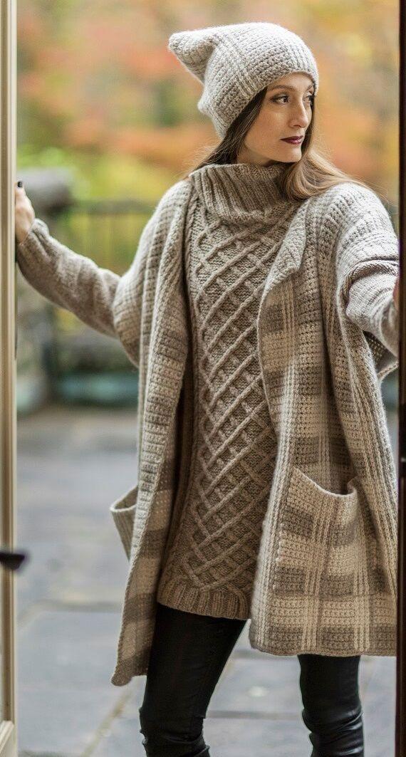 Karan Hat, Sonora High-Neck Sweater & Karan Vest HANIA by Anya Cole Fall…