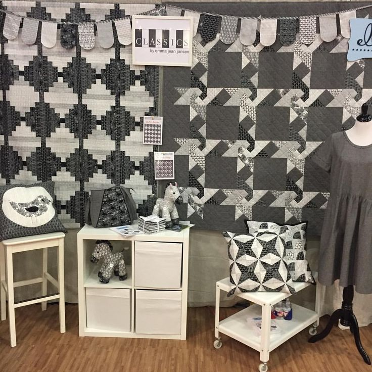 We are excited to be here at @quiltmarket come by and visit us in booth 1148. New release collection Classics by @emmajeanjansen. * * #ellabluefabrics #ejjclassics #emmajeanjansen #quiltmarket #houston #australianfabrichouse #designedinmelbourne #blackandwhite