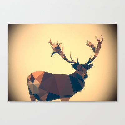 Dear deer Stretched Canvas by Matěj Kašpar Jirásek - $85.00