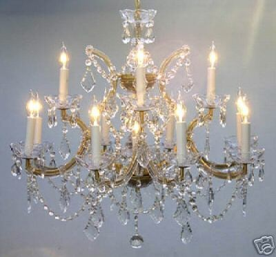 13 Light 22 X 28 Maria Theresa Crystal Chandelier Kitchen Dining Living Room