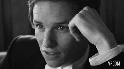 Even when he's trying to be serious, a smile creeps in. | 17 Reasons You Should Love Eddie Redmayne