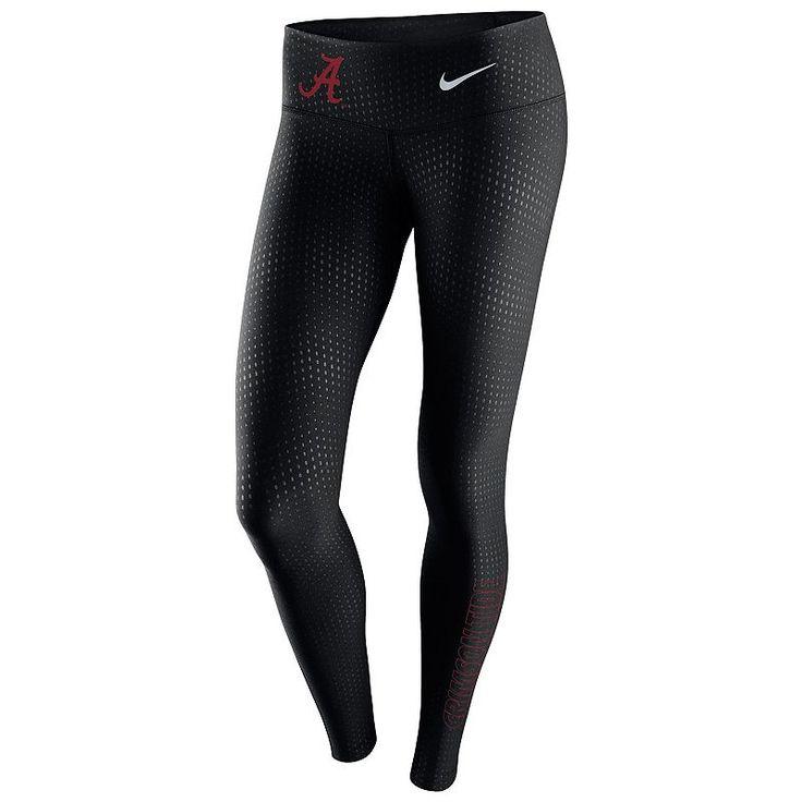 Women's Nike Alabama Crimson Tide Legend Tights, Size: XL, Black