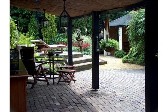 Overdekt terras tuin ideeen pinterest for Overdekt terras