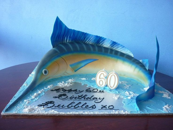Marlin fish shaped from 12square mud cake Paul Delaney