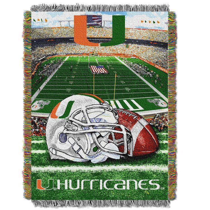 "Miami College """"Home Field Advantage"""" 48x60 Tapestry Throw"