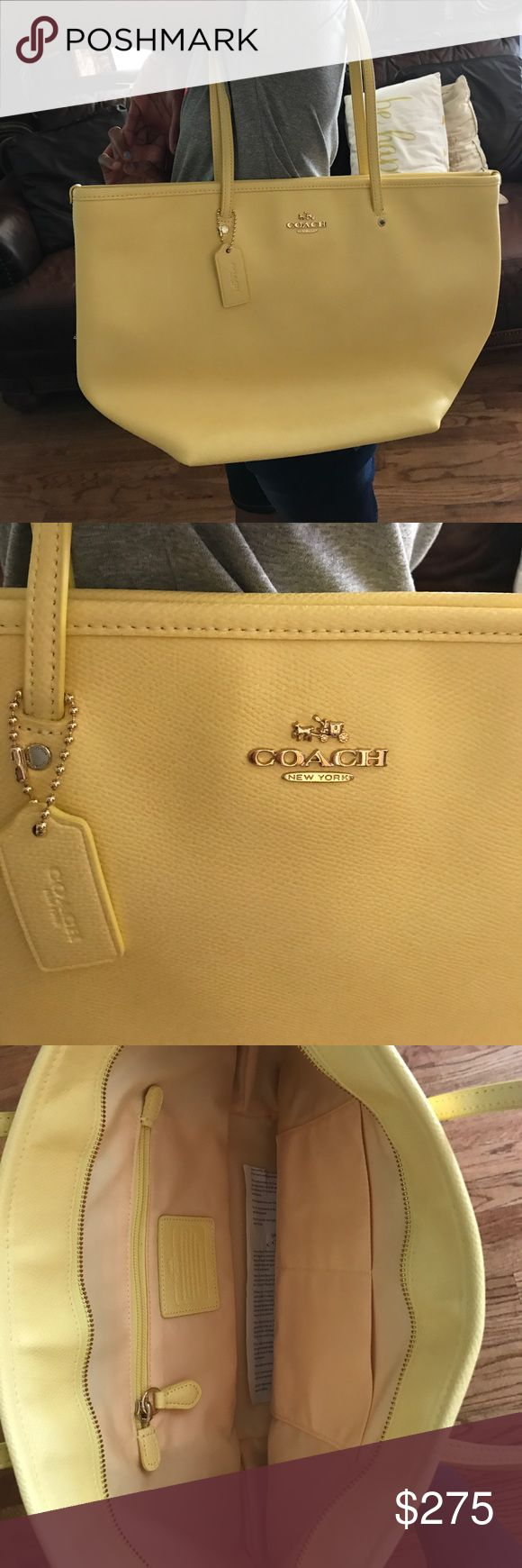 Coach Tote Bag Yellow Coach Tote Coach Bags Totes