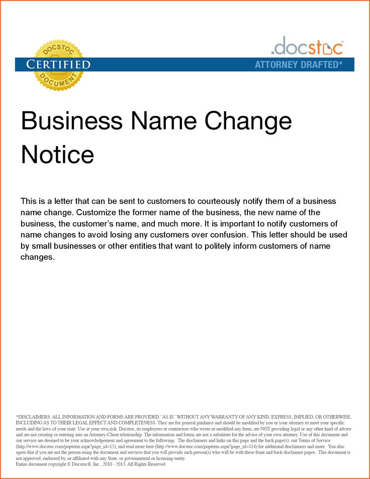Business Notice Sample Contract Template Letter Heading Examples