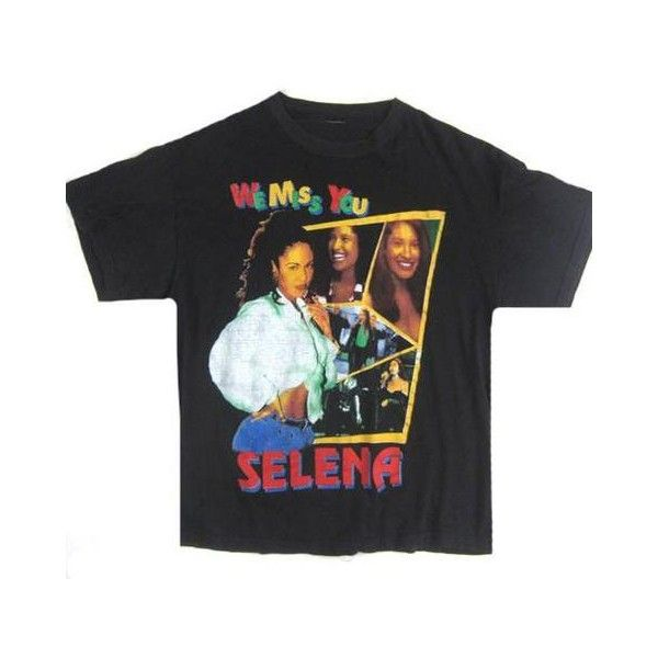 Vintage Selena Quintanilla We Miss You T-Shirt ❤ liked on Polyvore featuring tops, t-shirts, vintage tops, distressed tee, destroyed tee, distressed t shirt and vintage t shirts