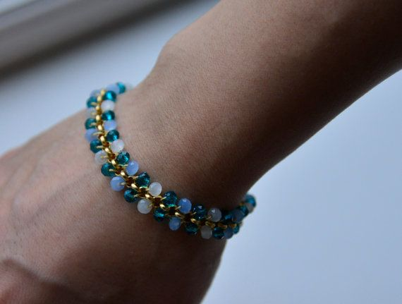 Hey, I found this really awesome Etsy listing at https://www.etsy.com/listing/187731450/bracelet-with-braided-crystals-on-chain