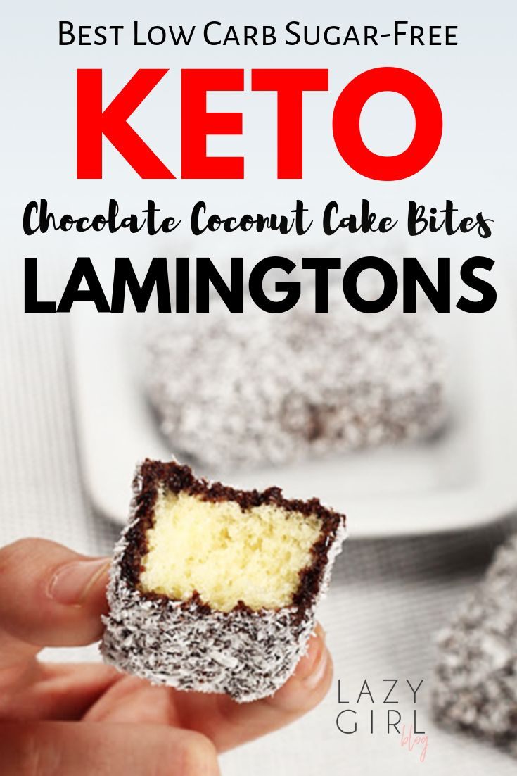 Keto Lamingtons – Best Low Carb Chocolate Coconut Cake Bites
