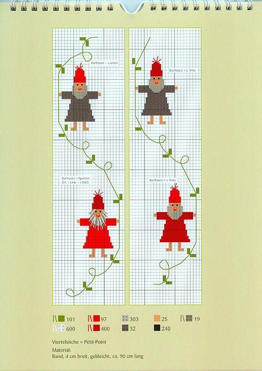 Cross Stitching Christmas Gnomes / Kreuzstich Weihnachten Wichtel / Gallery.ru / Фото #3 - 6 - mila29