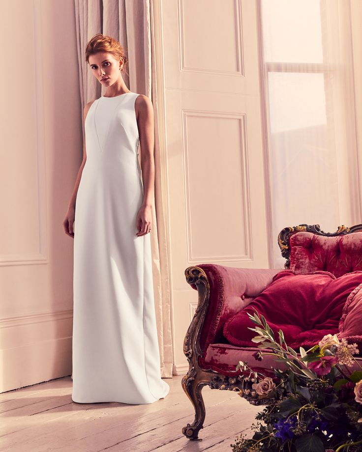 PURE WHITE: Choose elegance, as only Ted could do, with DELILLY