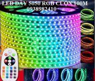 Led dây 5050 RGB cuộn 100m dùng remot