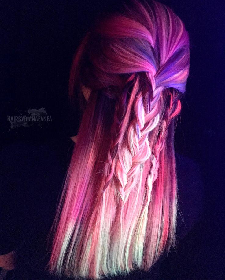Neon hair Neon electric Pulpriot Braids