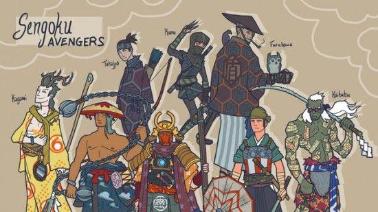 The Avengers as samurai. Awesome.