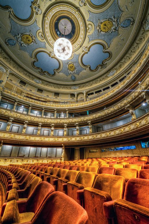Auditorium at the historical building of the Slovak National Theater in #Bratislava (by @Miroslav Petrasko)