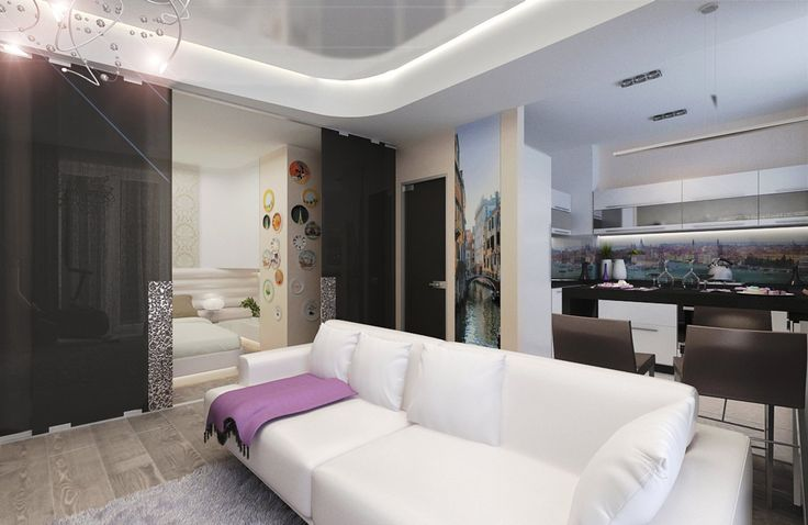 "The studio apartment in the minimalist style ""Art Deco"""