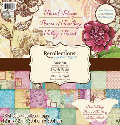 12 best recollections paper images on pinterest monsters recollections 12x12 floral foliage paper pad pronofoot35fo Gallery