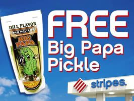FREE Big Papa Pickle at Stripes Convenience Stores on http://www.icravefreebies.com