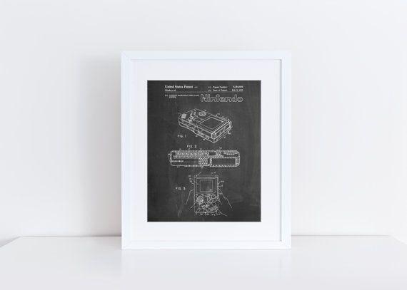 Nintendo Game Boy Poster Poster Nintendo Nintendo von PatentPrints