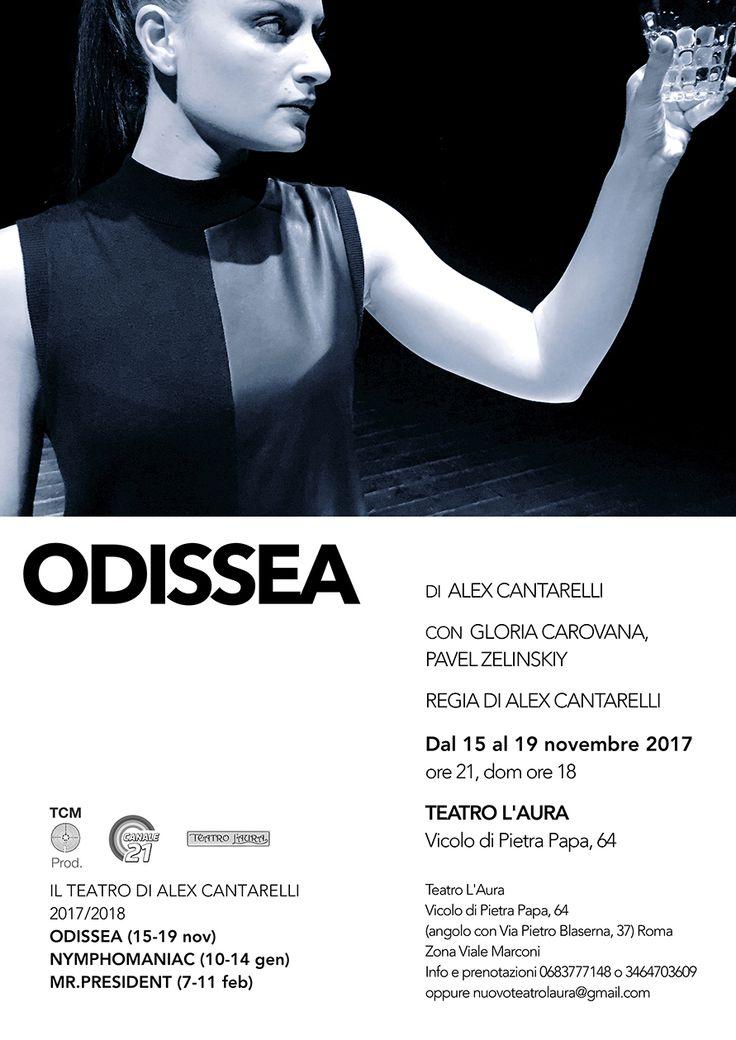 TEATRO L'AURA - ODISSEA L'ironico e cupo viaggio interiore di un Ulisse,alle prese con la consuetudine dei suoi incontri e dei personaggi della sua vita.