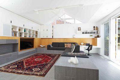 Shakespeare Street House - Open plan living space. Philip Stejskal Architecture