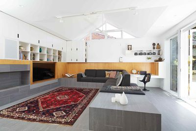 Shakespeare Street House - Open plan living space. Philip Stejskal Architecture