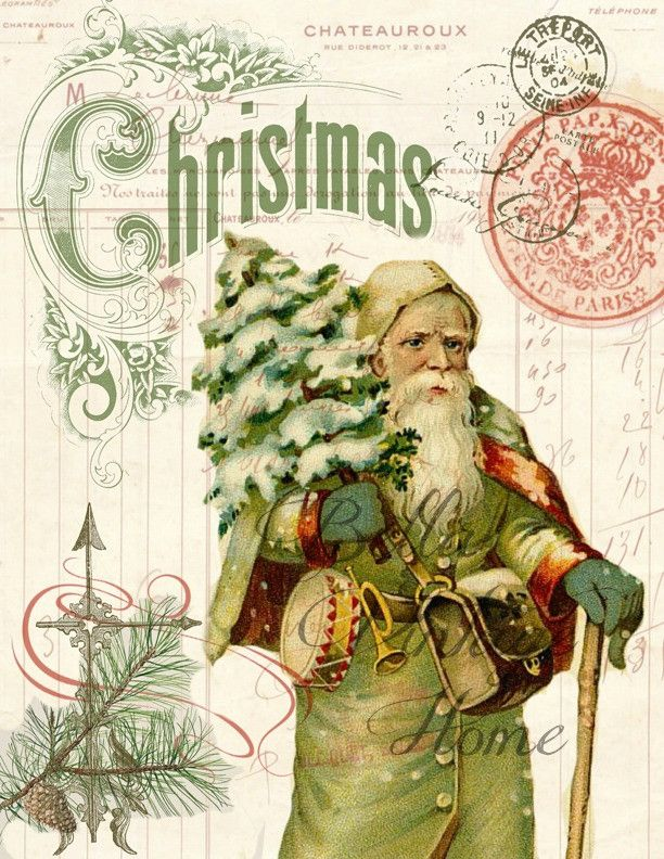 630 best Vintage Christmas Santas images on Pinterest | Father ...