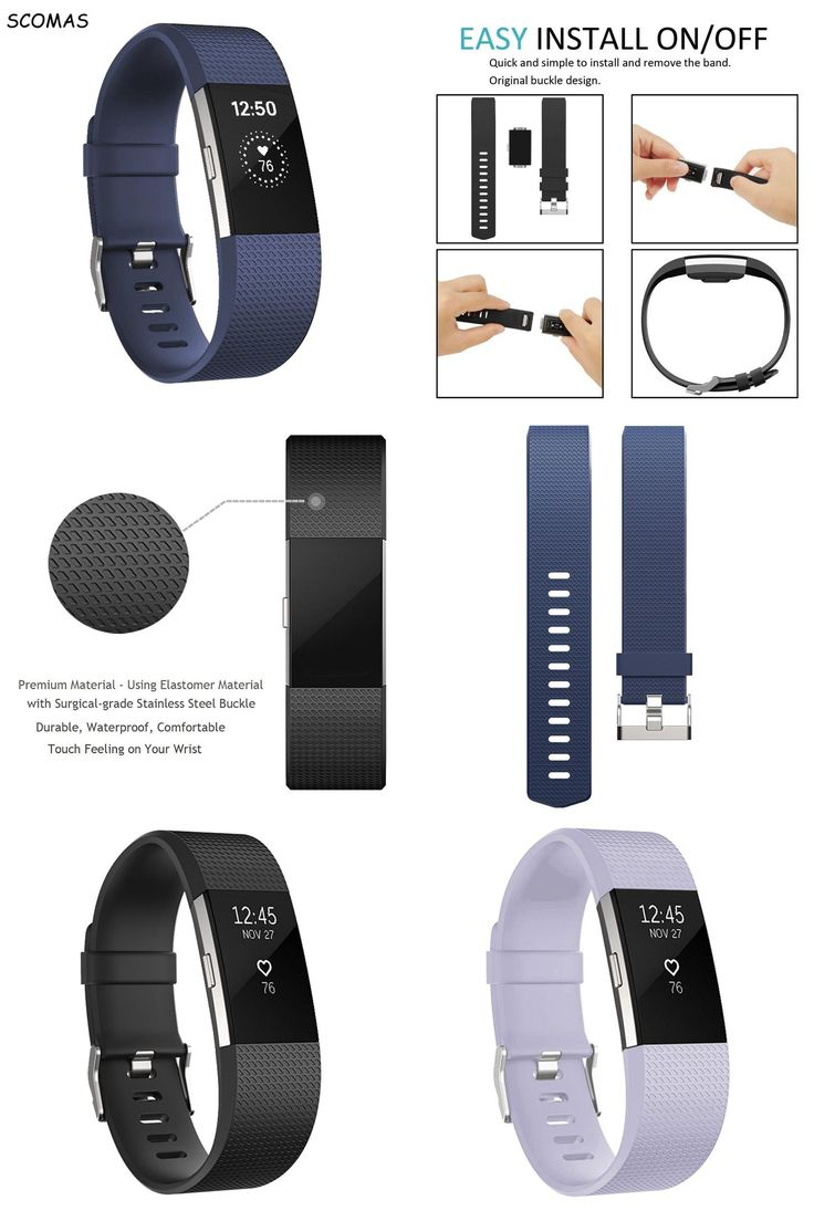 [Visit to Buy] SCOMAS silicone smart bracelet strap for Fibit charge 2 replacement accessory for fitbit bands fitness tracker smart watchbands  #Advertisement