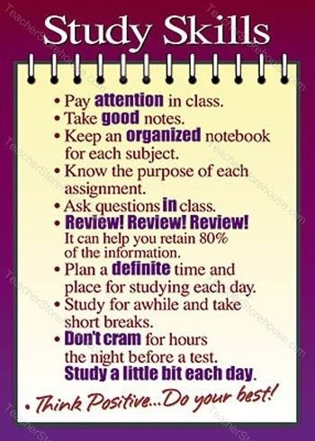 Study skills that will help you be successful