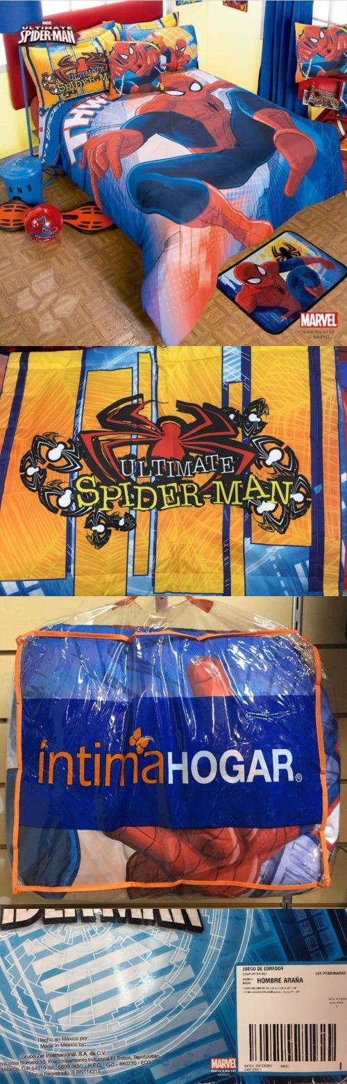 Comforters and Sets 66728: Intima Hogar Boys Bedding Marvel Ultimate Spider-Man Comforter Sham 2 Piece Set -> BUY IT NOW ONLY: $72.99 on eBay!