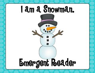 Snowman Emergent Reader FREEBIE