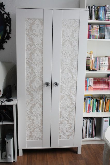 Trend schrank kleiderschrank tapete barock shabby beige bekleben DIY do it yourself aneboda