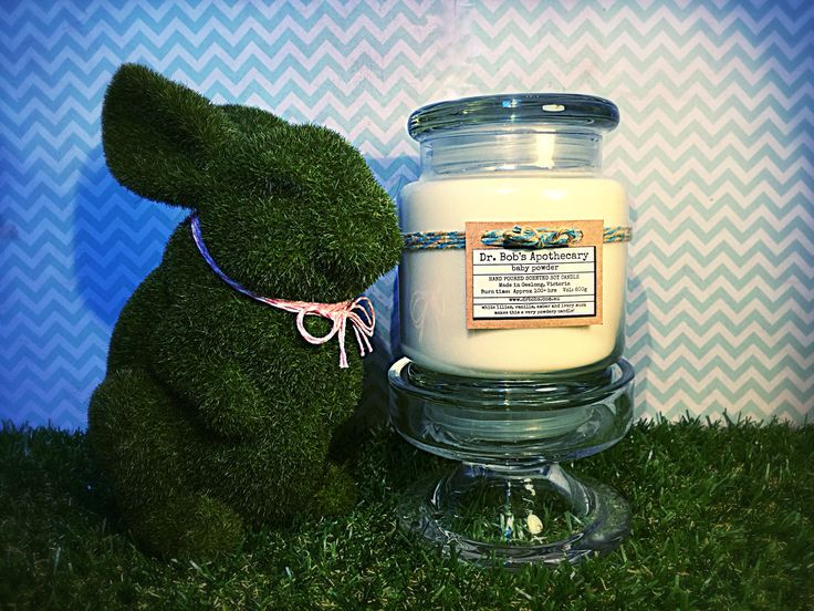 Dr Bob's Apothecary 100hr Burntime Candle - Baby Powder  Premium Handpoured Scented Soy Candles  www.drbobs.com.au